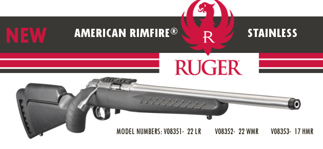 New Ruger American Rimfire Stainless Slider