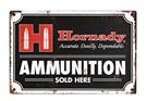 HORNADY® AMMO SOLD HERE TIN SIGN